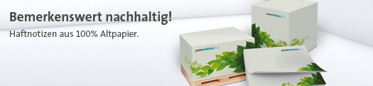 Werbeartikel Haftnotizen eco recycled